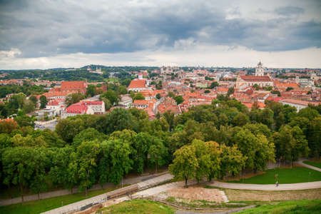 Beautiful panoramic view of the Old town in Vilnius - capital of Lithuania Stockfoto