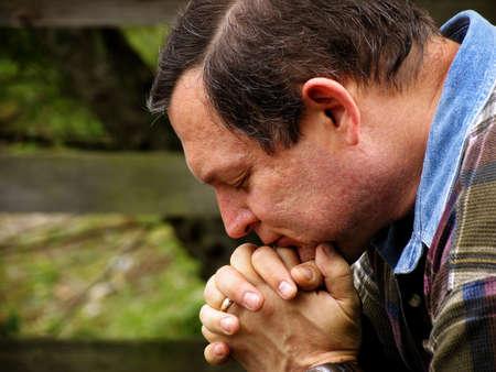 Man in prayer Stock Photo - 3661394