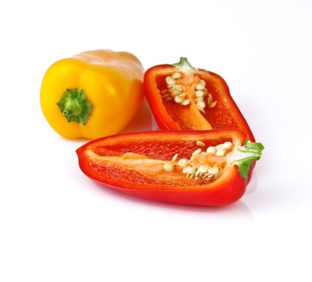 red and yellow pepper, halved Stock Photo - 16503532