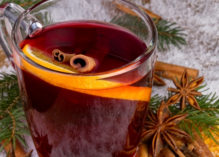 punch:  mulled wine