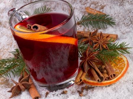 šálek svařeného vína Reklamní fotografie