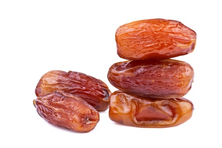 deglet: dried dates close up  Stock Photo