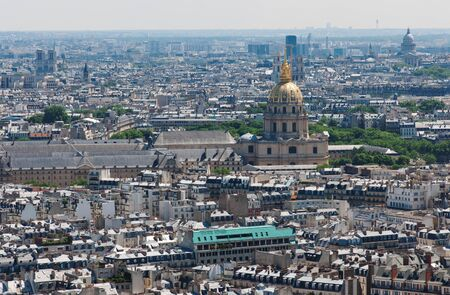invalides: View on Paris from the Eiffel Tower