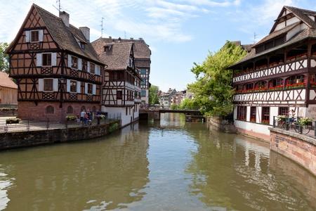 old houses in La Petite France in Strasbourg