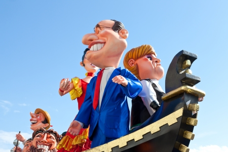 processions: The carnival processions in Nice, France