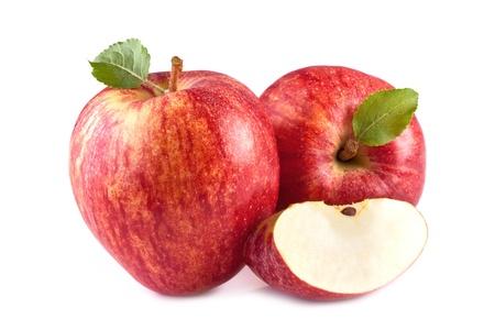 pomme rouge: aplles rouges sur fond blanc