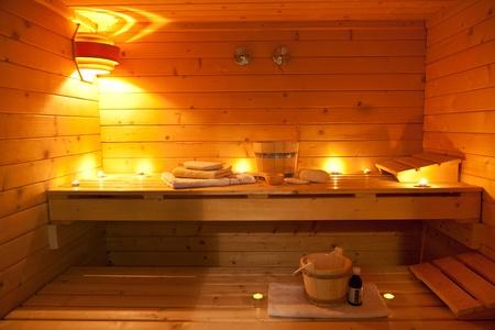 finland�s: sauna y sauna accesorios Foto de archivo