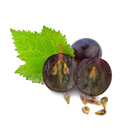 black seeds: grape in close up Stock Photo