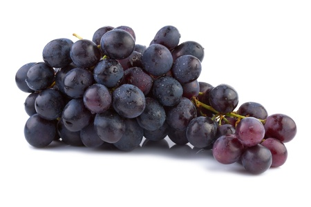 red grape: Grapes isolated on white background