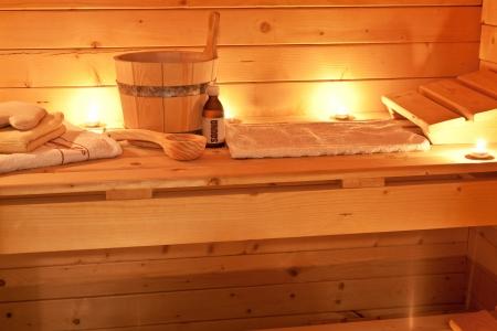 sauna interiér a saunové doplňky