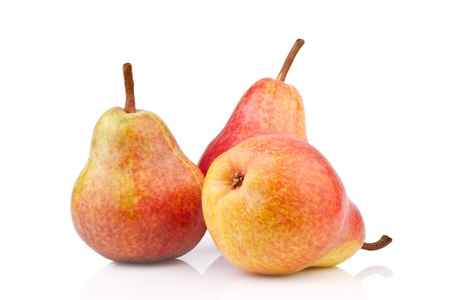 Pears on white background photo