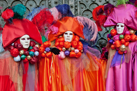 Carnival masks, Venice, Italy photo