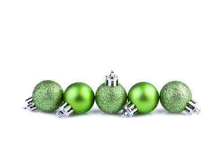 green christmas balls  Stock Photo
