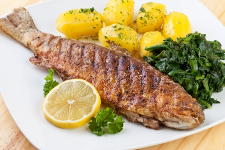 Trout Fried Stock Photo