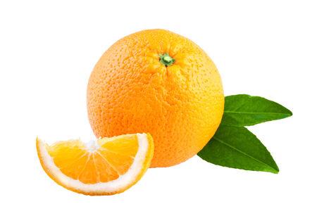 one object: Orange isolated on white