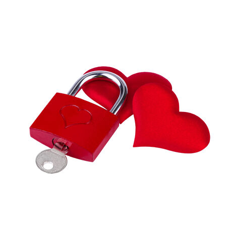 Heart lock  photo
