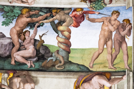garden of eden: Adam and Eve, Sistine Chapel