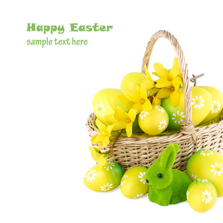 Easter Concept Image with Free Space for your Text photo