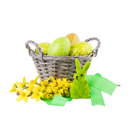 Easter Decoration isolated on White Background photo