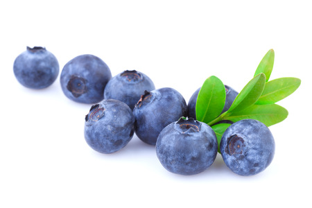Blueberries isolated Standard-Bild