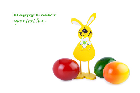 Easter Bunny and Easter Eggs photo