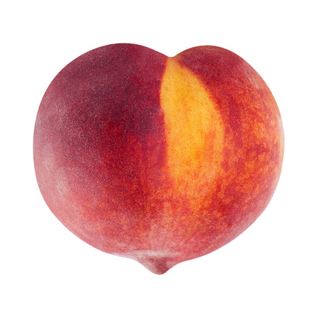 peach fruit in heart shape