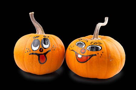 Pumpkin isolated on black background photo