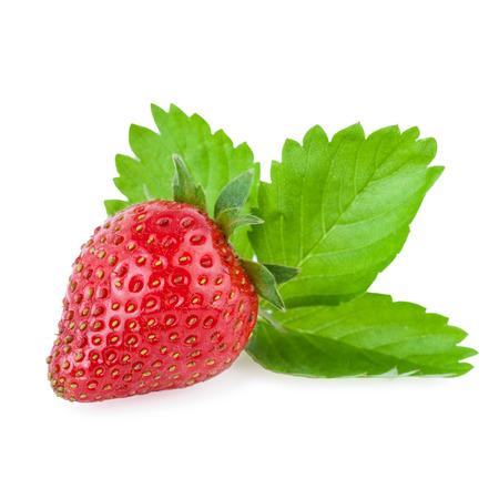 organic strawberry isolated on white photo
