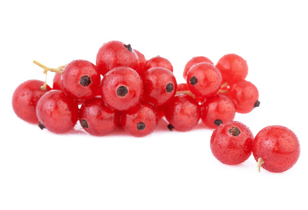 Red Currant Berries isolated on white