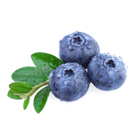 Fresh Blueberry with water droplets Stock Photo