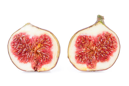 Two Halves of a Figs Fruits Stock Photo