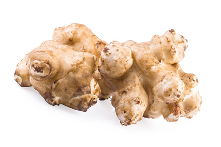 jerusalem artichoke: Jerusalem artichoke sunroot tuber (Helianthus tuberosus) Stock Photo