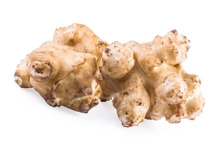 inulin: Jerusalem artichoke sunroot tuber (Helianthus tuberosus) Stock Photo
