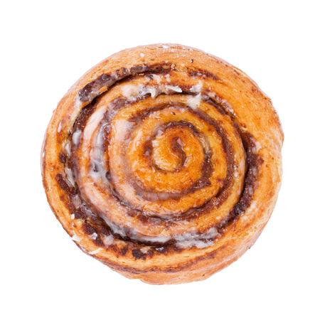 coffee and cake: Nut Coffee Cake Bun Stock Photo