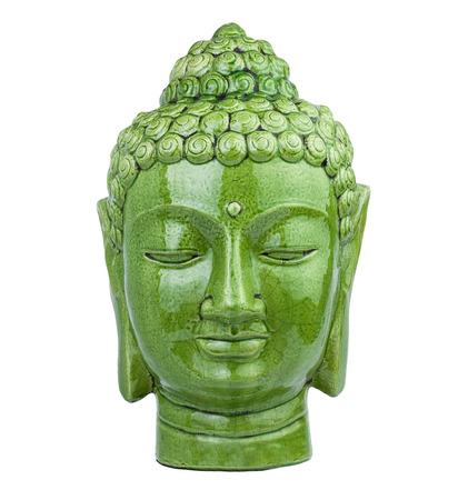 cabeza de buda: buda cabeza verde