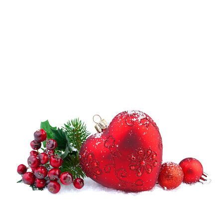 christmas red heart decoration