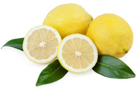 over white: lemon fruits over white Stock Photo