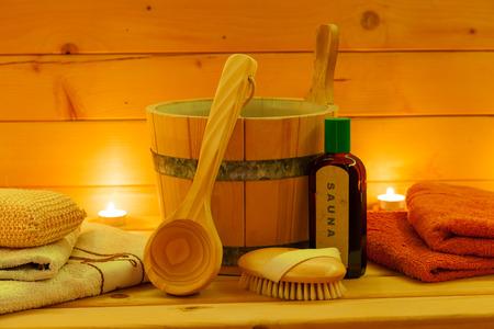 wellness sauna Stock Photo