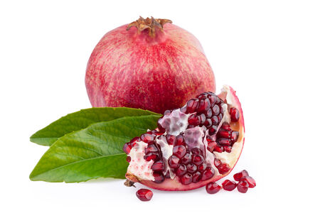 punica granatum: Pomegranate Fruit Stock Photo