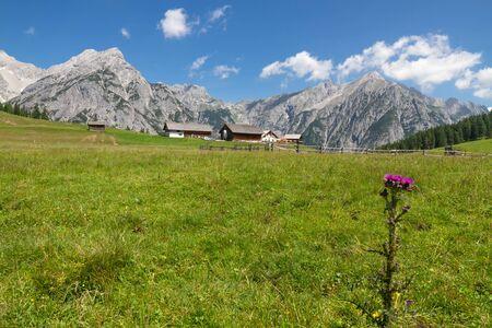 tirol: Mountain landscape in the Alps near Walderalm, Austria, Tirol Stock Photo