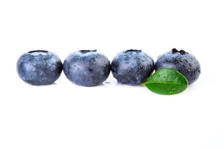 straight line: Fresh Blueberries Straight Line