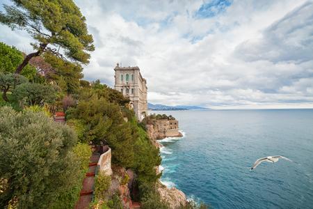 oceanographic: View of Oceanographic Museum in Monaco