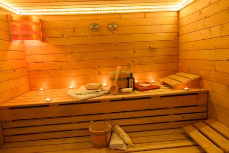 finnish bath: Sauna Interior