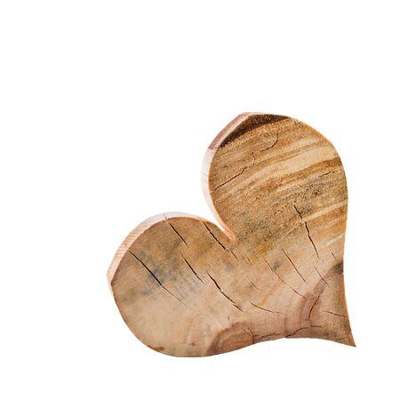 Heart Wood Geïsoleerde Witte