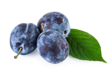 over white: Plum Fruits over White