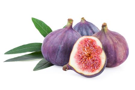 over white: Fig Fruit over White Isolated