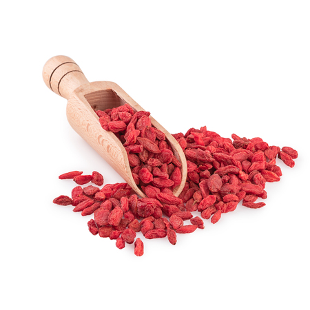 Dried Goji Berries Wooden Spoon