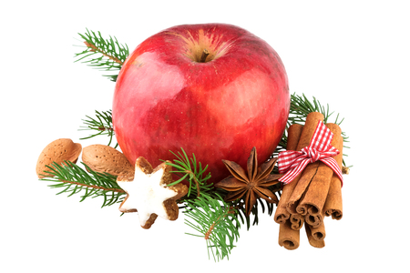 christmas spices: Red Apple Christmas Spices Decoration