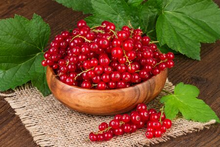 redcurrant: Redcurrant Rustic Background Stock Photo
