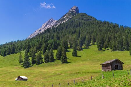 nature of sunlight: Mountains Rural Scenery. Austria, Alps, near Walderalm.